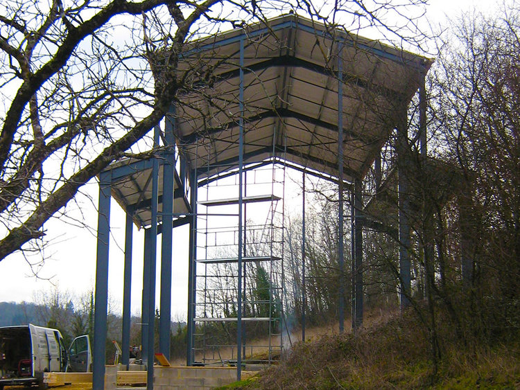 circus barn before