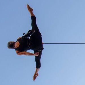 teacher vertical and aerial dance harness technique
