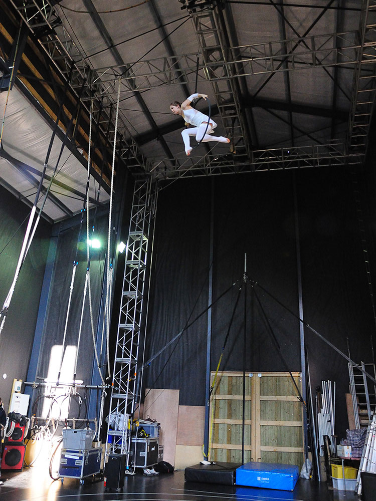 aerial and circus space